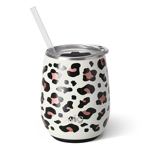 Luxy Leopard 14oz Stemless Wine Cup