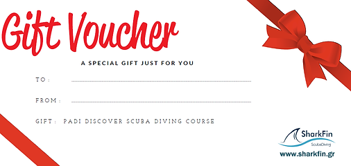 Scuba diving gift card