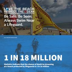 Be Safe. Be Seen. Always Swim Near a Lifeguard.