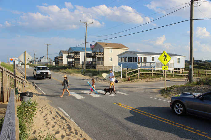 Stop for Pedestrians in Crosswalks. It's the law.