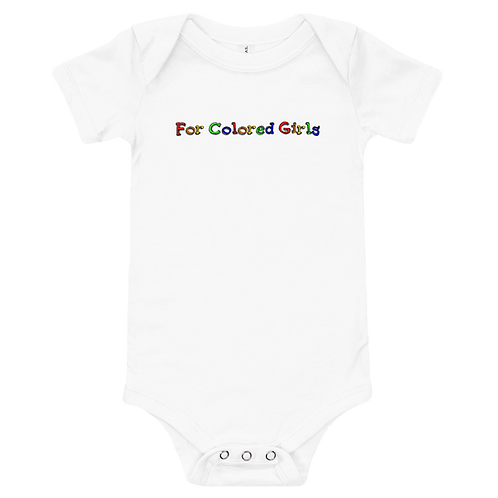 For Colored Girls Onesie