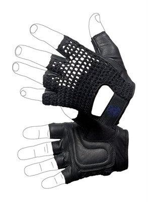 OG10 - Summer glove Guanto pelle e rete in cotone