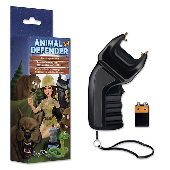ANIMAL DEFENDER 3 in 1 Accendigas + Dissuasore + Stimolatore a norma CE