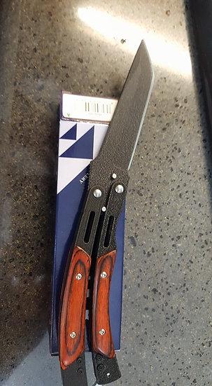 1203123  BUTTERFLY MANICO LEGNO - LAMA 10 cm 1203123