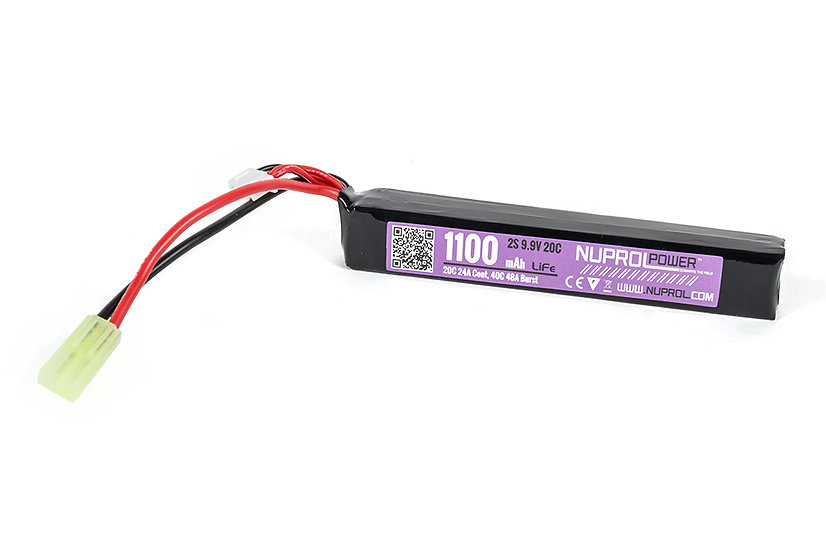 Nuprol 1100mAh 9,9V 20C - Slim Stick Type
