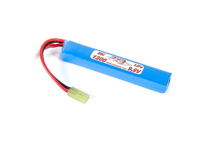 Battery Li-Fe 9,9V 1200mAh 20C Tube (mm 125x19x15)