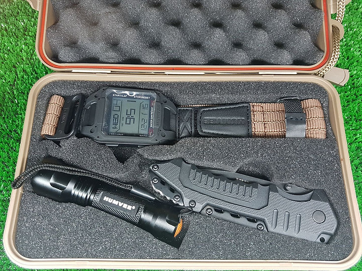 HUMVEE RECON KIT COLTELLO + TORCIA + OROLOGIO