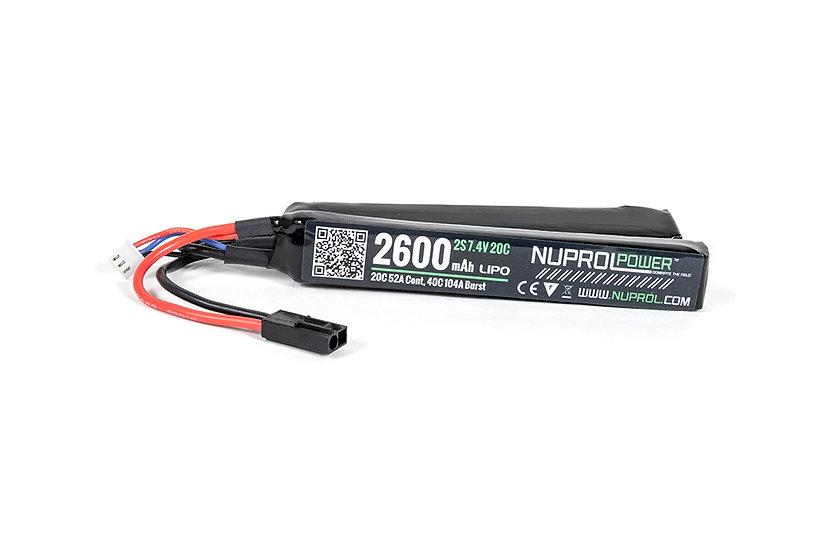 Nuprol 2600mAh 7,4V 20C - Nunchuck Type