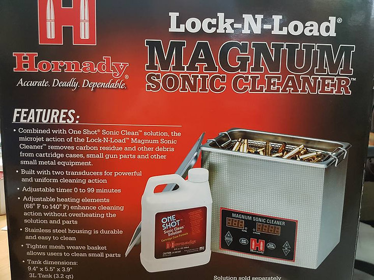 HORNADY  3L MAGNUM SONIC CLEANER LOCK-N-LOAD 043341