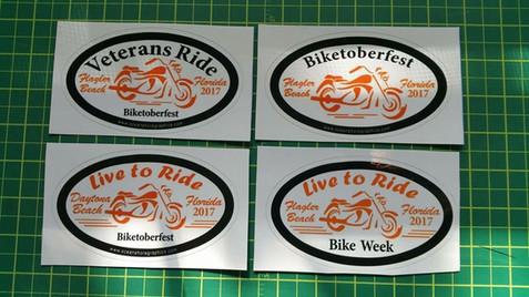Bike Week - Biketoberfest Decal Stickers
