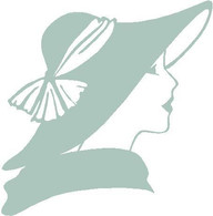 Lady Face and Hat decal