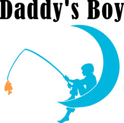 8x8 inches Daddy's Boy $5.00