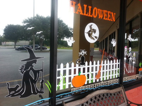 HALLOWEEN WINDOW DECALS SAMMY'S WINDOWS