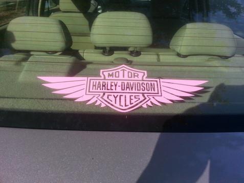 Pink Harley Davidson Deca Motorcycle Car