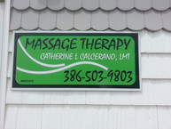 INSTALLED NEW SIGN FOR MASSAGE THERAPY F