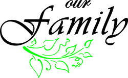 10x6 inches Our Family $5.00