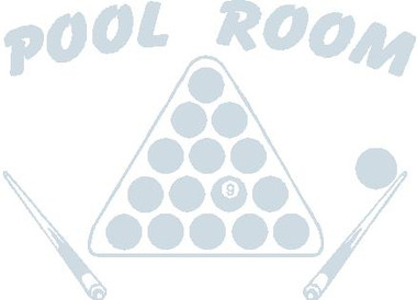 Pool Room Decal