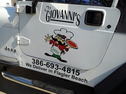 GIOVANNI'S JEEP DECAL