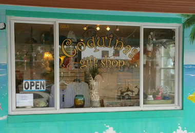 Coquinas Gift Shop Window Sign