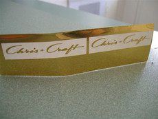 CHRIS CRAFT in gold