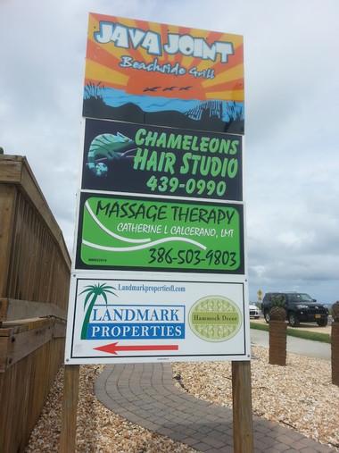 REDOING SIGN FOR CHAMELEONS HAIR STUDIO