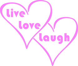 6x5 inches LIve Love Laugh $3.00