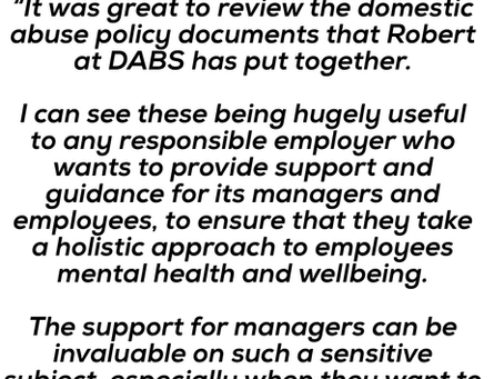 INTERNATIONAL HR DIRECTOR ENDORSES  DABS WORKPLACE POLICIES.