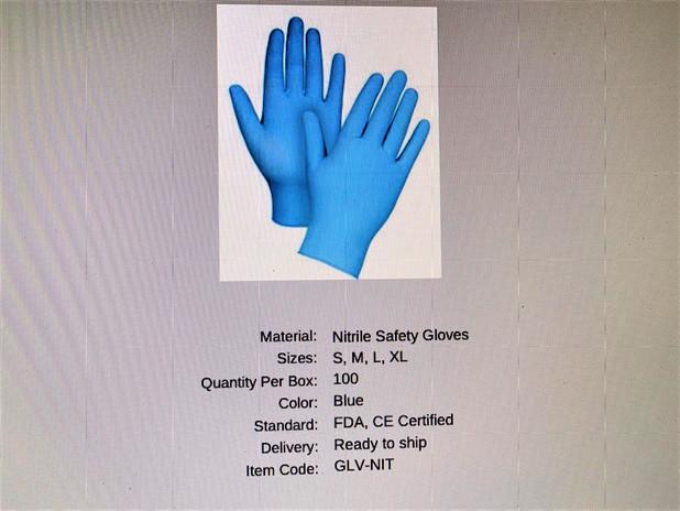 Nitrile Safety Gloves