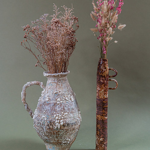 Brown Spackle Tall Vase