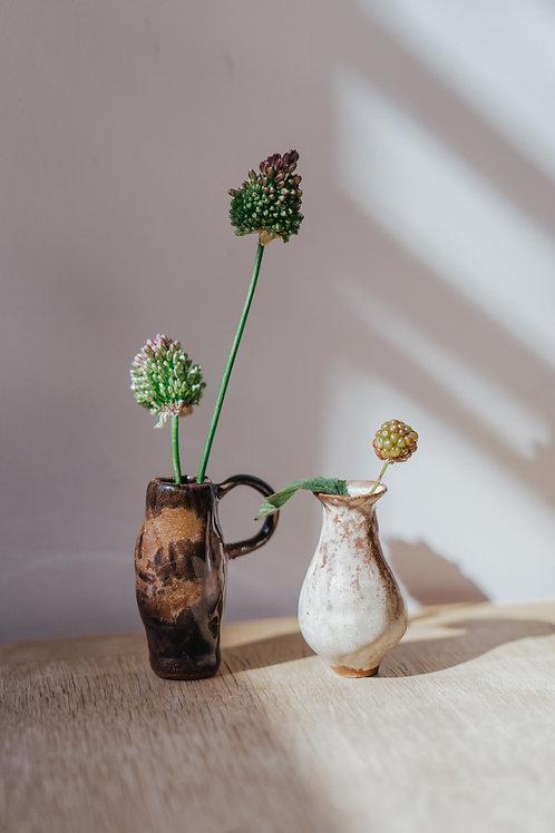 Bellied Bud-Vase (Black-brown handle)