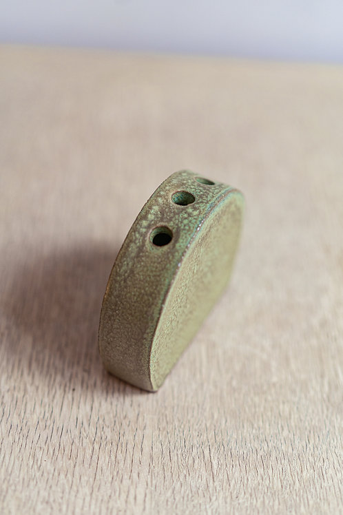 Crackled-Green Bud Vase