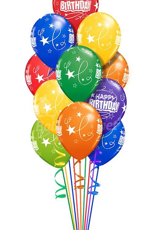 10 Assorted latex Balloons Arrangement
