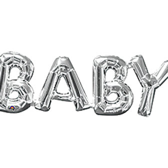 16inch SilverBaby Balloon
