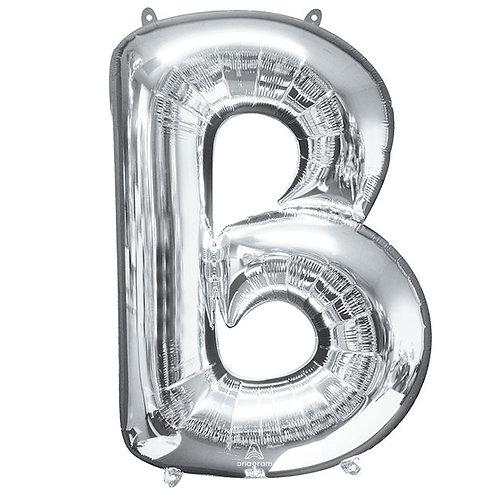 Silver Letter B