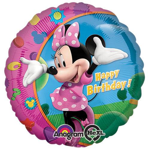 'Mini Mouse Happy Birthday' Mylar Balloon