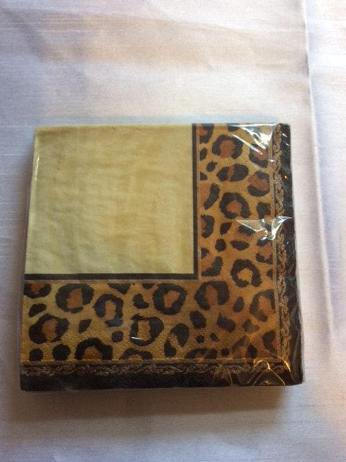 16pcs Leopard print napkins