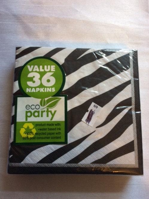 36 ct Zebra napkins