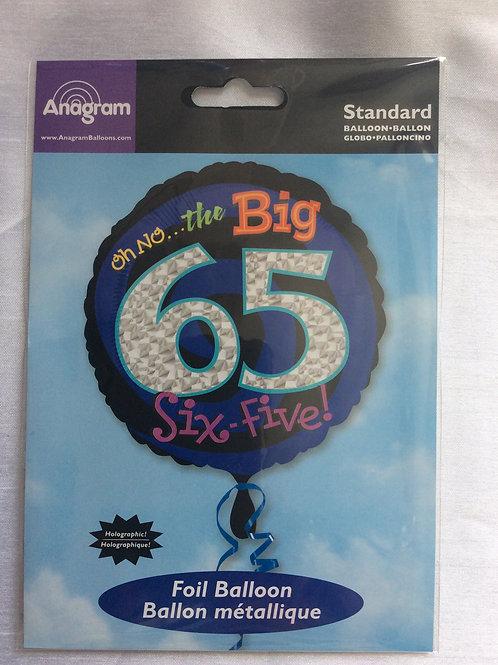 'The Big 65' Mylar Balloon