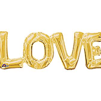 Love Foil 25inch wide Gold