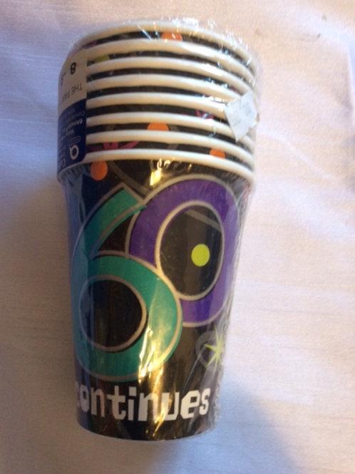 '60' Birthday Cups