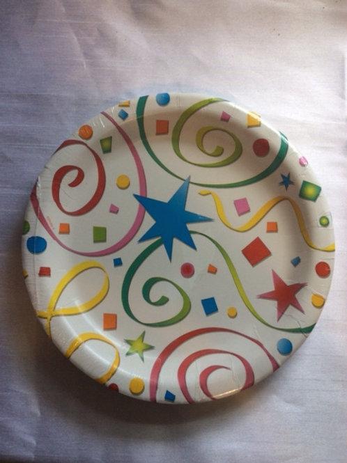 8pcs party festive plates