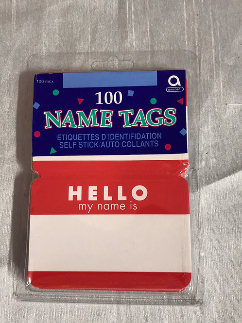 Name Tags 100 pcs