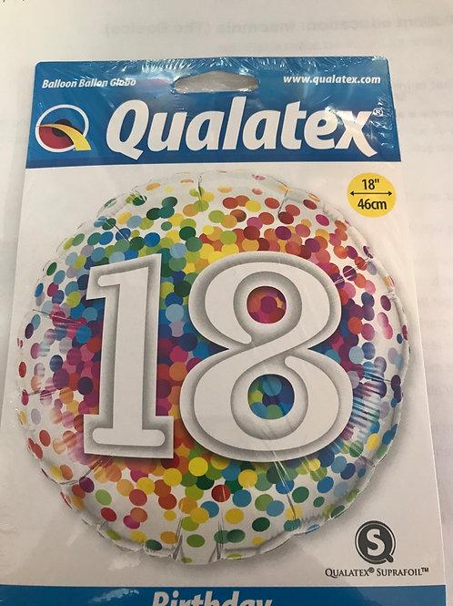 18 yrs balloon