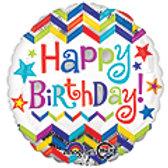 18inch Happy Birthday'Mylar Balloon