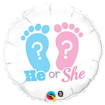 Gender Reveal 18inch Balloon