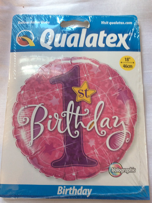 '1st Birthday' Mylar Balloon