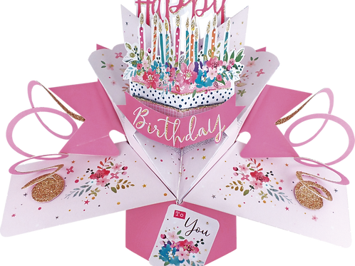 3D POPUP Birthday Card Bouquet