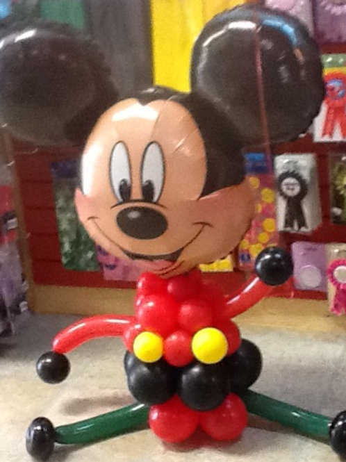 Mylar Oversized Character-Mickey Mouse Sculpture