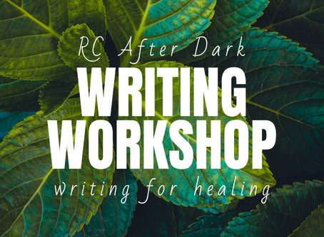 R.A.D Writing Workshop, January 27th. 6:30pm