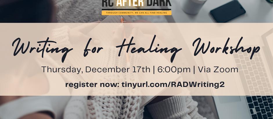 Writing For Healing Workshop Again!